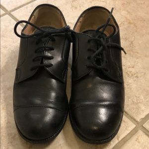 Crewcuts black leather shoes
